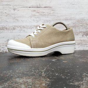 Womens Dansko Vegan Lace Up Clog Shoes Sz 38 Used